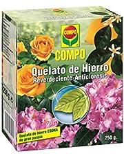 Compo Quelato, Reverdeciente anticlorosis, EDDHA 13% Hierro Soluble en Agua, Incluida Cuchara dosificadora, 250 g, 2219602011