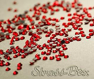 Strass Hotfix DMC Light Siam, rojo, SS10 elegir gemas número seleccionable, 1.000