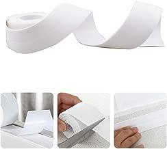 FANCYHUB Peel &Stick Caulk Strip For Shower Toilet Tub and bathroom self adhesive caulk tape White 1-1/2