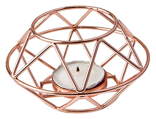 Fashioncraft Geometric Design Rose Gold Metal tealight...