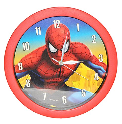 alles-meine.de GmbH Wanduhr - Spiderman 29 cm groß Uhr - Kinderzimmer Kinderuhr Deko analog Amazing Spider Man Spinne Spider-Man Jungen