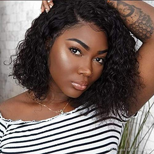 Naseily Short Afro Kinky Curly Synthetic Wigs for Black Women Black Curly Wigs for Women African American Women Wigs (NAS-9766)