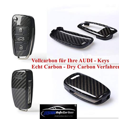 Max Auto Carbon 100{90ff89ee67b8ac89a9f450525edcca7a916cf2aac007367216f91b51e4328dff} Carbon Vollcarbon Schlüssel Cover Hülle für A1 A3 A4 A5 A6 TT TTS TTRS Q2 Q3 Q5 Q7 S1 S3 S4 S5 RS3 RS4 RS5 RS6 R8