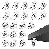 Zasjon soporte baldas armario, 20 piezas clavijas soporte estanteria soporte de...