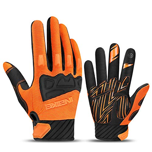 INBIKE MTB Handschuhe Herren Motocross Fahrradhandschuhe Mountainbike Fahrrad Rad Jungen mädchen Orange XL