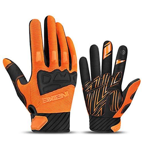 INBIKE MTB Handschuhe Herren Motocross Fahrradhandschuhe Mountainbike Fahrrad Rad Jungen mädchen Orange L