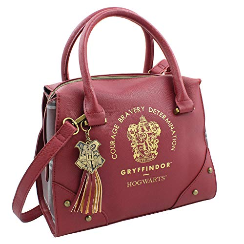 Harry Potter Purse Designer Handbag Hogwarts Houses Womens Top Handle Shoulder Satchel Bag Gryffindor