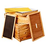 10-Frames Complete Beehive Kit, Wax Coated Bee Hive Includes Frames...