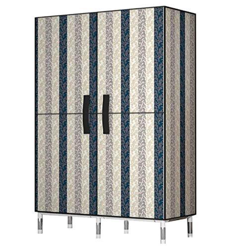 armadio semplice panno armadio in acciaio inox tubo ispessito e rinforzato grande capacità risparmio di spazio appeso combinazione armadio (colore: B, dimensioni: 85x45x172cm)