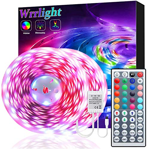LED Strip Lights 32.8FT/10M 300 LEDs Waterproof RGB Light Strip Kits with Remote for Room, Bedroom, TV, Kitchen, Desk, Color Changing Light Strip Kit SMD5050 with 3M Adhesive, 12V Power Supply…