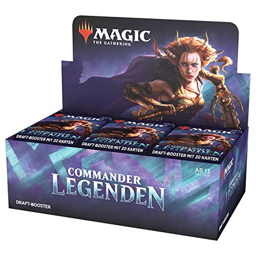 Magic: The Gathering Commander - Display Draft-Booster, 24 confezioni, versione tedesca
