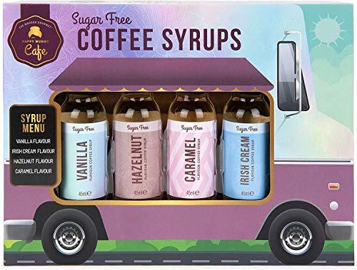 Modern Gourmet Foods - Zero Calorie Kaffee Sirup Food Truck Geschenkset - Set mit vier Geschmacksrichtungen