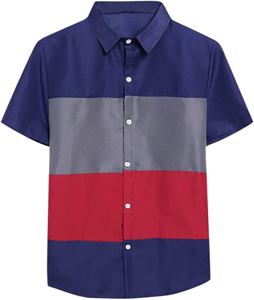 lowest price FIN86 Summer Men's Fashion Casual Regular store Co Blouse