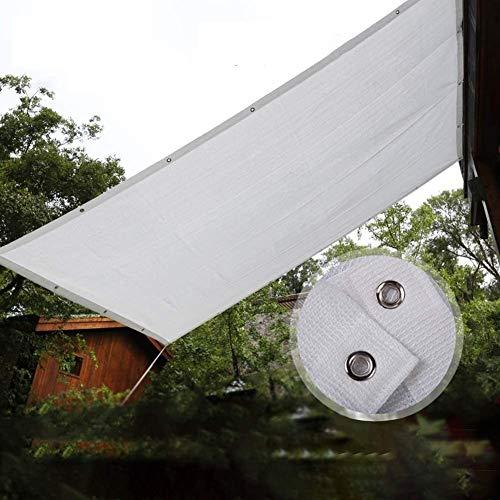 Toldo Vela de Sombra Cortina de la red blanca cortina de tela de Vela multiuso Screening pantalla de tela resistente a los UV 80% de malla Tarp, por efecto invernadero de plantas del jardín de flores,