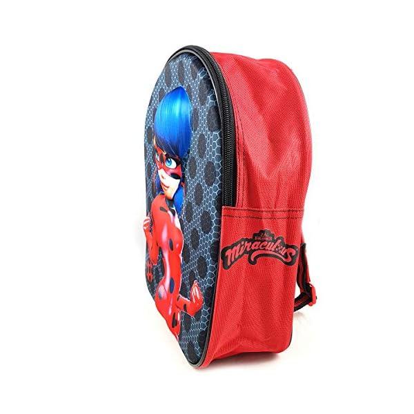 51n0W3TX9UL. SS600  - Miraculous Ladybug Mochila Infantil Escolar 3D niña 33cm (EVA-460-8358)