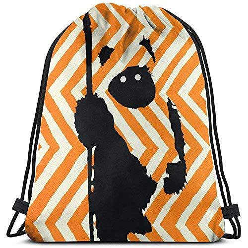 NotApplicable Cinch Bags Ewok Chevron Orange Laptop Sportgeschenk Lässig Kordelzug Rucksack Print Cinch Taschen Fitness Tasche Travel Universal School