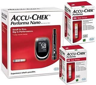 Accu Chek Performa Nano Glucometer Kit with 100 Test Strips