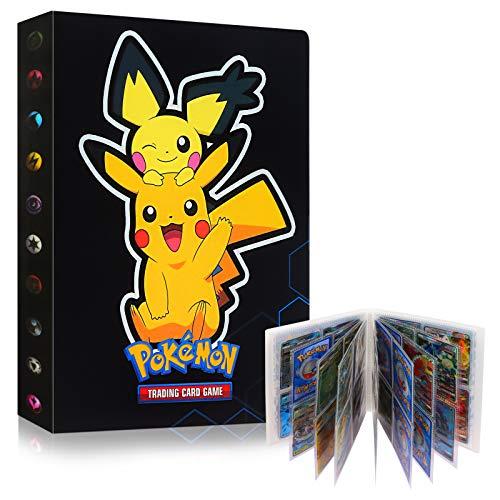 Tarjetero Pokémon, Sinwind Álbum de Pokemon Album Pokemon, Álbum de PokemonÁlbum de Pokemon, Tarjeta de Comercio Álbum, Álbum de Entrenador de Cartas Pokémon GX EX, 30 Páginas, hasta 240 Tarjetas