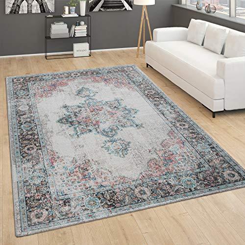 Paco Home In- und Outdoor-Teppich, Kurzflor Mit Orient Design In versch. Farben und Größen, Grösse:200x280 cm, Farbe:Creme