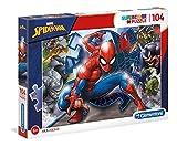 Clementoni 27116 Spiderman-Supercolor Puzzle, 104 Teile, für Kinder ab 6 Jahre, Mehrfarben