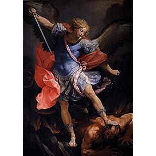 Guido Reni The Archangel Michael Defeating Satan. Fine Art Print/Poster. Size A3:Donald-trump