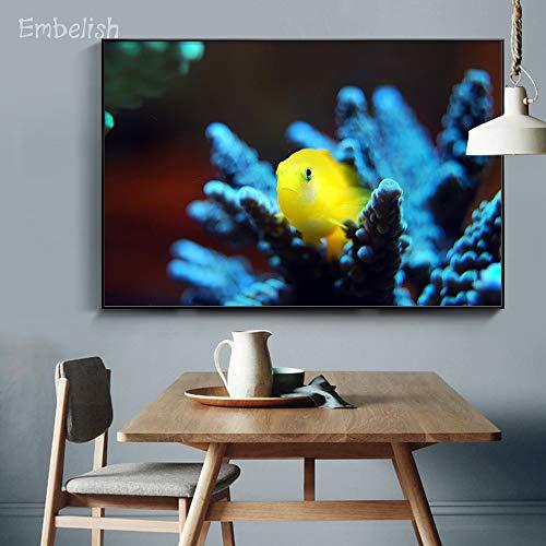 KWzEQ Imprimir en Lienzo Cute Goldfish Wall Art Poster y Fotos para Sala de estar75x113cmPintura sin Marco