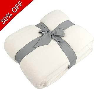 Somewell Fleece Blanket Soft, Coral Fleece Plush Throw TV Blanket, Cozy 100% Polyester Alta Luxury Hotel Fleece Blanket-Queen Comforter Cream-Protects Against Dust Mites and Allergens