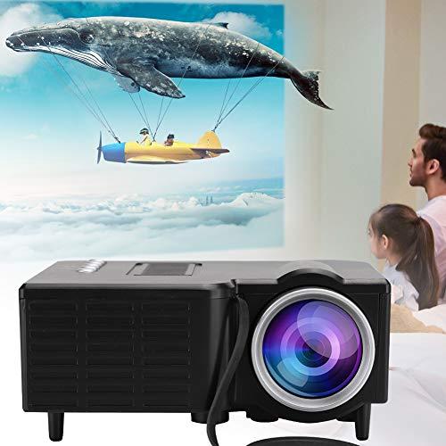 Fockety Videoproiettore HD, videoproiettore, Sistema Home Theater Domestico 1080P Silenzioso per la Riproduzione di Film di intrattenimento multimediale di proiezione di riunioni(Black)