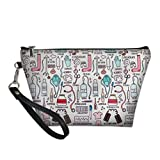 FOR U DESIGNS Makeup Toiletry Case for Women Design Travel Cosmetic Pouch with Zipper