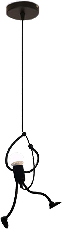 SXMY Moderne Schmiedeeisen-Schurken-Retro-Leuchter-Leuchte der Deckenleuchte-LED angepasst an Restaurant-Café