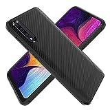 KUAWEI Hülle Case für Samsung Galaxy A50/A50S/A30S Tasche Neu Stylisch Schwarz Ultradünn TPU Silikon Kohlefaser Stoßdämpfend Anti-Fingerabdruck Hohe Qualität Kratzfest Weich Bumper Schutzhülle