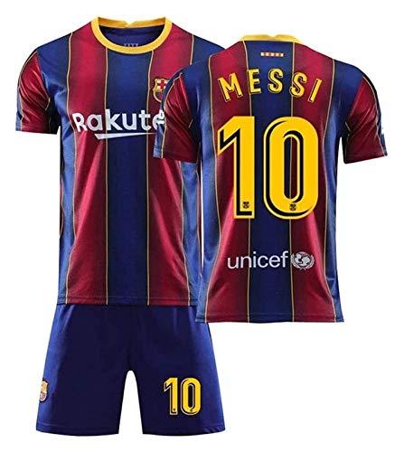 MVAH Store Camiseta de fútbol for niños Barcelona Lionel Messi # 10 Ventilador de fútbol de la Camiseta de Jersey de los Kits for Niños (Size : 12 Years)