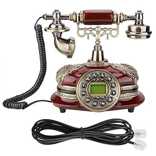Retro Old Fashionedtele Landline, Retro Old Fashioned Teléfono Fijo, Estilo Antiguo Teléfono de Escritorio con Cable Detección automática de identificador de Llamadas para la Oficina en casa