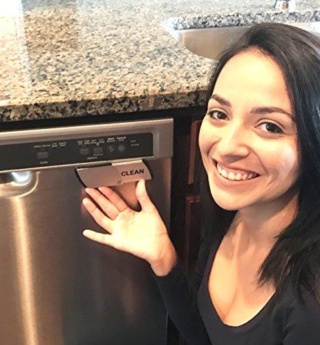 Metal dishwasher magnet