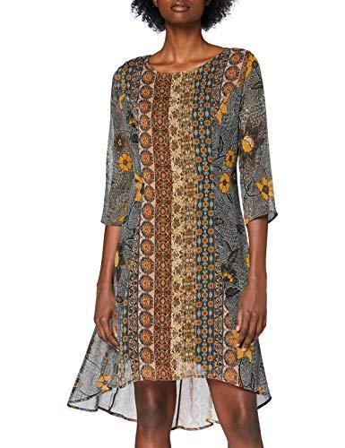 Desigual Vest_Pisa Vestido Casual, marrón, XL para Mujer