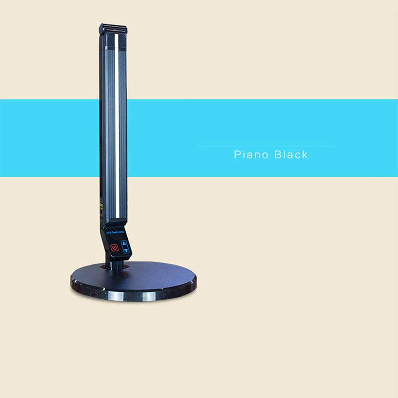 Kuan-Table lamp Neue LED-Augenschutz Leselampe Schlafzimmer Nachttischlampe Schreibtisch College Schlafsaal Lampe Kinder Lernen Schreibtischlampe,schwarz