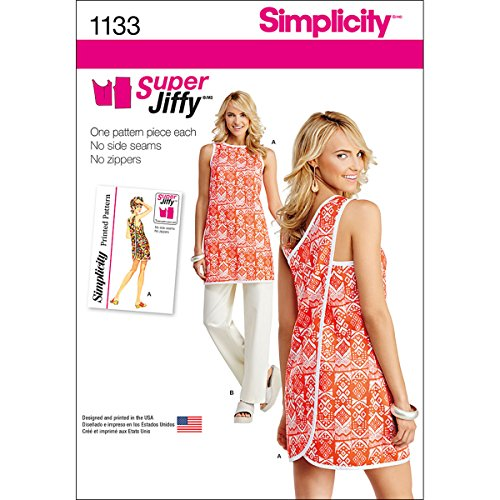 Simplicity patroon 1133 Misses 'Super Jiffy tuniek en broek, A (6–8-10–12–14–16–18)