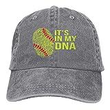 Hoswee Gorra de Béisbol Ajustable It's in My DNA Fingerprint Unisex Trendy Jeans Cap Snapback Sombreros