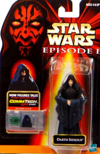 Hasbro Darth Sidious + Commtalk Chip - Star Wars Episode I The Phantom Menace Collection