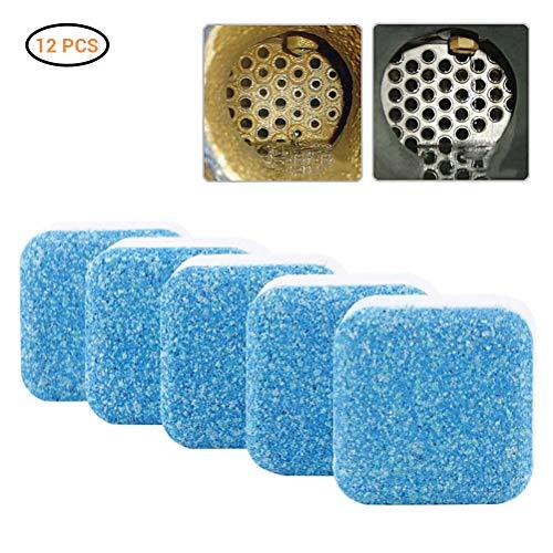 Mowtom 12 stuks wasmachine schoonmaken tablet diepe vlek remover wasmachine reiniger elimineert onaangename geur