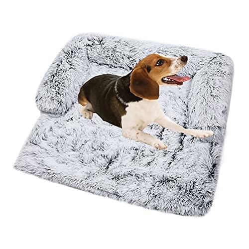 Coperta morbida e calda lavabile e antiscivolo, adatta per gatti e cani di taglia S, media e grande (grigio,S)