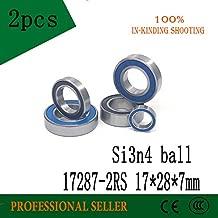 Fevas 2pcs 17287-2RS 17287mm Steel Si3N4 Balls Hybrid Ceramic Bearing 17287 2RS Wheel hub Bearing Bicycle Bearings