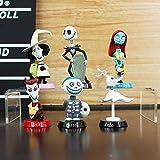 6 unidades/set Pesadilla antes de Navidad figura de acción juguetes 5-7cm Jack Skellington Sally Colección Juguete de PVC Muñecas Yoda