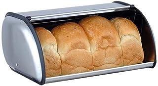 Adore store 1PC Pan Cajas para Contador de Cocina de Acero Inoxidable antihuella Pan Almacenamiento Panera de 17.1* 10.61 7,07