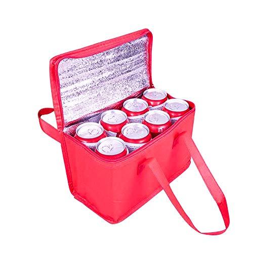 Nevera portátil plegable, 7 L, bolsa isotérmica, bolsa isotérmica, bolsa de pícnic, pequeña bolsa térmica plegable, bolsa de almuerzo térmica, bolsa aislante.