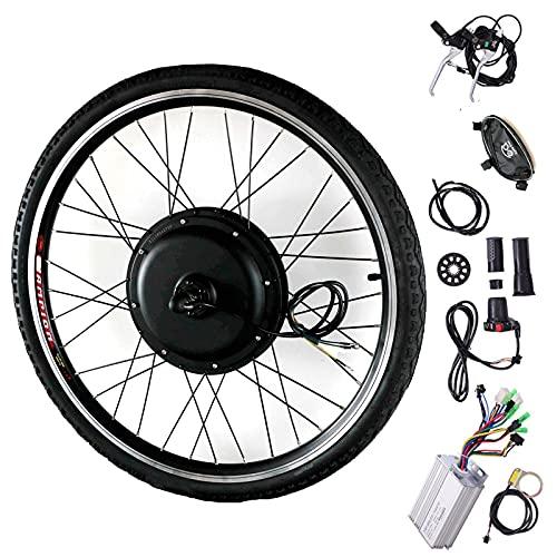 Kit de bicicleta eléctrica 20 '24' 26 '28' 700c 'Kit de bicicleta eléctrica de rueda delantera y trasera, 48 V Kit de bicicleta eléctrica 1000 W Motor de rueda Kit de conversión,FrontWheel-20INCH