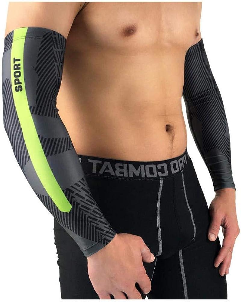 YIFEID Arm Sleeve 1 Paar Sport Arm Pre/ßh/ülse Einen.Kreislauf.Durchmachentreibende Basketball Volleyball Lauf Sunscreen Bands Arm Warmer Sommer Uv-Schutz