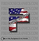 3M Ford F-250 F-350 Powerstroke Superduty American Flag Diesel Sticker Decal (12')
