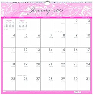 House of Doolittle Breast Cancer Awareness Wall Calendar 12 Months January 2015 to December 2015, 12 x 12 Inches, Pink and Gray, Recycled (HOD3671-15) by House of Doolittle