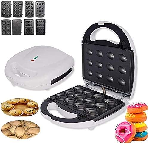 Breakfast Helper Tostadora 4 en 1 Máquina de gofres eléctrica para tostar, Asar Tortillas tostadora de sándwich de donas para el Desayuno para la Cocina del hogar